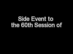 Side Event to the 60th Session of