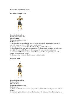 Forearms (resistance bars) PowerPoint PPT Presentation
