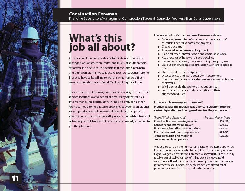 Construction Foremen First-Line Supervisors/Managers of Construction T