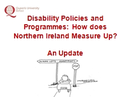 Disability Policies and Programmes: How does Northern Irela PowerPoint PPT Presentation