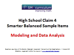 Modeling and Data Analysis