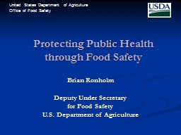Protecting Public Health through Food Safety
