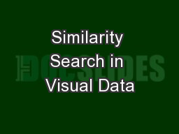 Similarity Search in Visual Data