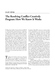 Resolving Conflict Creatively Program Selfridge The R PowerPoint PPT Presentation