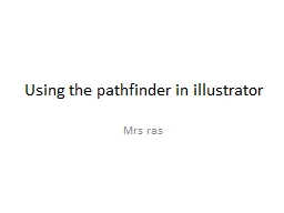 Using the pathfinder in illustrator