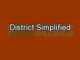 District Simplified