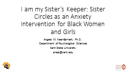 I am my Sister's Keeper: Sister Circles as an Anxiety