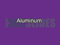 Aluminum & Materials Service PowerPoint PPT Presentation