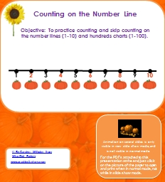 Counting on the Number Line