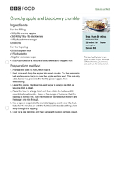 bbccoukfood Crunchy apple and blackberry crumble Ingre PDF document - DocSlides