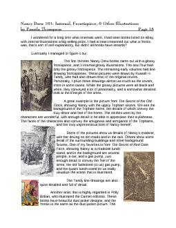 Nancy Drew 101: Internal, Frontispiece, & Other Illustrations