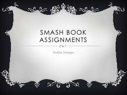 Smash Book Assignments
