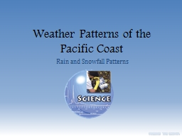 Weather Patterns of the Pacific Coast