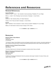 References and Resources  Related References Exercise