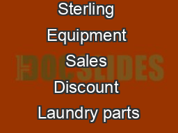 Sterling Equipment Sales Discount Laundry parts