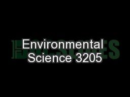 Environmental Science 3205