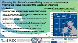 Measuring the effects of a seasonal fishing closure on the