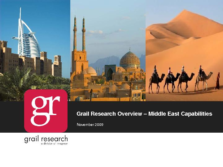 Grail Research Overview Middle East CapabilitiesNovember 2009 ...