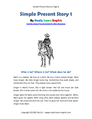 Simple P resent Story  Page Copyright  Ola Zur www