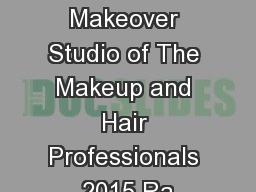 Lynda Low Makeover Studio of The Makeup and Hair Professionals 2015 Ra