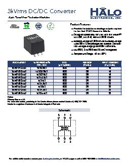 """3kVrms DC/DC Converter6 pin """"Lead Free"""" Isolation Modules .."""