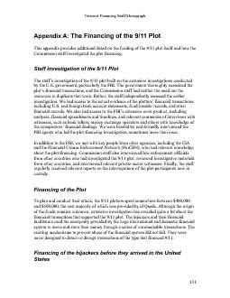 The Financing of the 9/11 Plot This appendix provides additional detai