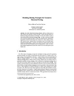 Modeling Hinting Strategies for Geometry  Theorem Proving Noboru Matsu