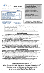 LUNCH MENU  Old Deerfield Road Highland Park Il  ph PowerPoint PPT Presentation