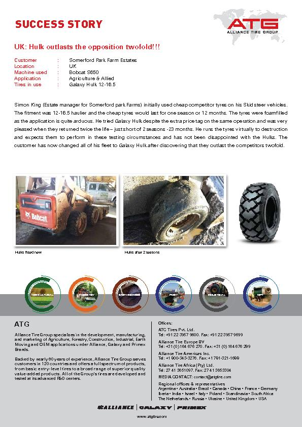 Alliance Tire Group specializes in the development, manufacturing, and