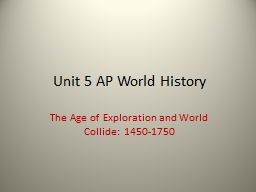 Unit 5 AP World History