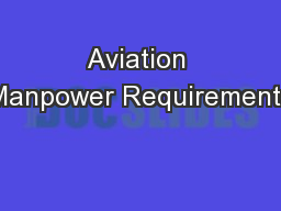 Aviation Manpower Requirements