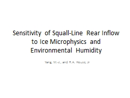 Sensitivity of Squall-Line Rear Inflow to Ice Microphysics