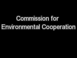 Commission for Environmental Cooperation