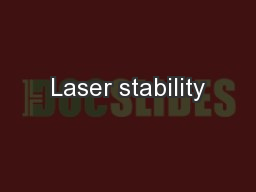 Laser stability