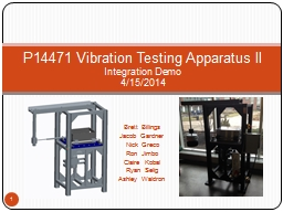 P14471 Vibration Testing Apparatus II PowerPoint PPT Presentation