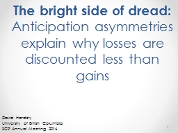 The bright side of dread: