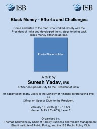 Black Money - Efforts and Challenges