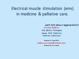 Electrical muscle stimulation (ems)      in medicine &