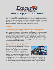 Vehicle Shippers United States PowerPoint PPT Presentation