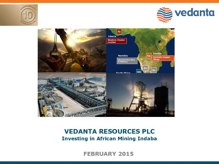 VEDANTA RESOURCES PLC PowerPoint PPT Presentation