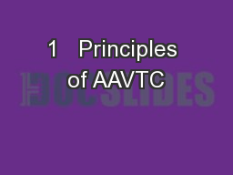 1   Principles of AAVTC