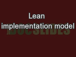 Lean implementation model PowerPoint PPT Presentation