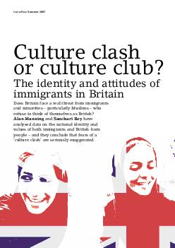 CentrePiece Summer  Culture clash or culture club The