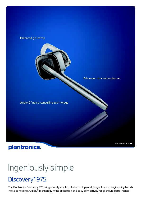 Patented gel eartipAudioIQ noise-cancelling technologyAdvanced dual mi