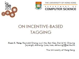 On Incentive-Based Tagging