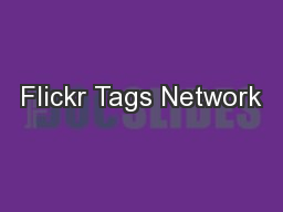 Flickr Tags Network