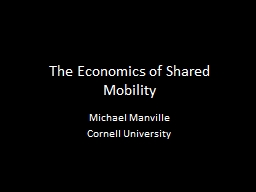 The Economics of Shared Mobility