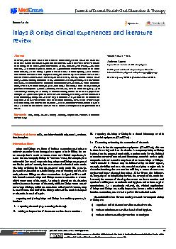 Journal of Dental Health, Oral Disorders & Therapy PDF document - DocSlides