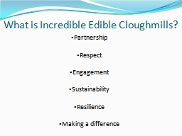 What is Incredible Edible PowerPoint PPT Presentation
