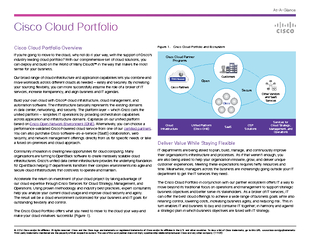 Cisco Cloud Portfolio AtAGlance   Cisco andor its affi